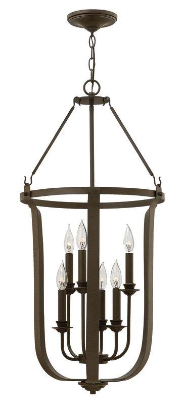 Hinkley Lighting 4946 6 Light Full Sized Foyer Pendant from the