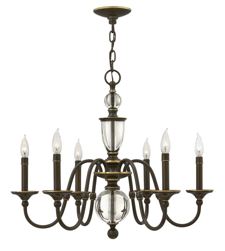 Hinkley Lighting 4956 6 Light 1 Tier Candle Style Chandelier from the Sale $659.00 ITEM: bci2635463 ID#:4956LZ UPC: 640665495638 :