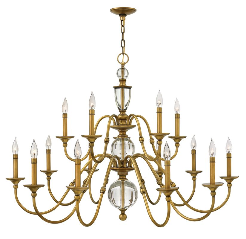 Hinkley Lighting 4959 15 Light 2 Tier Candle Style Chandelier from the