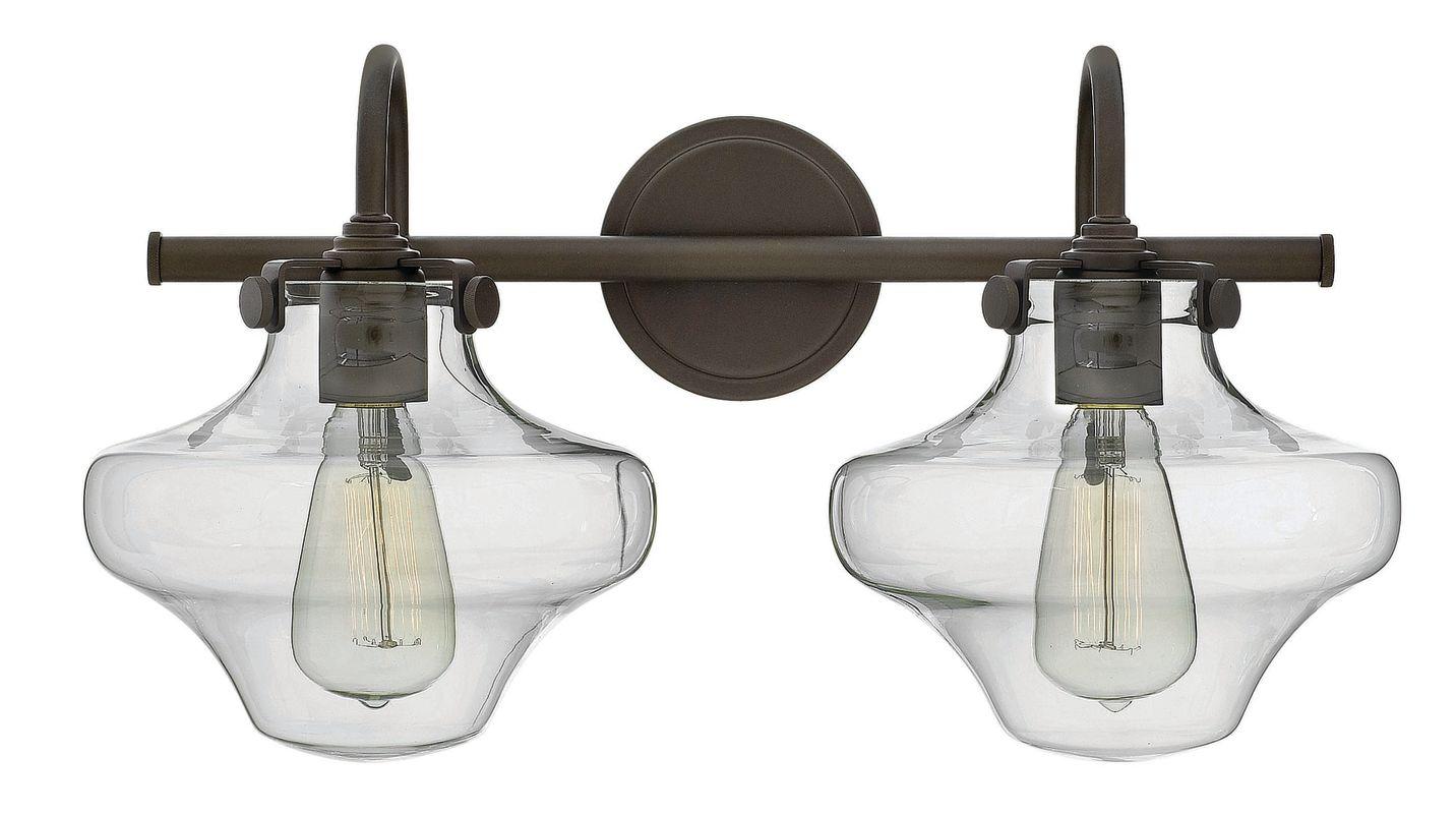 Hinkley 50021OZ Oil Rubbed Bronze Industrial Congress Bathroom Light