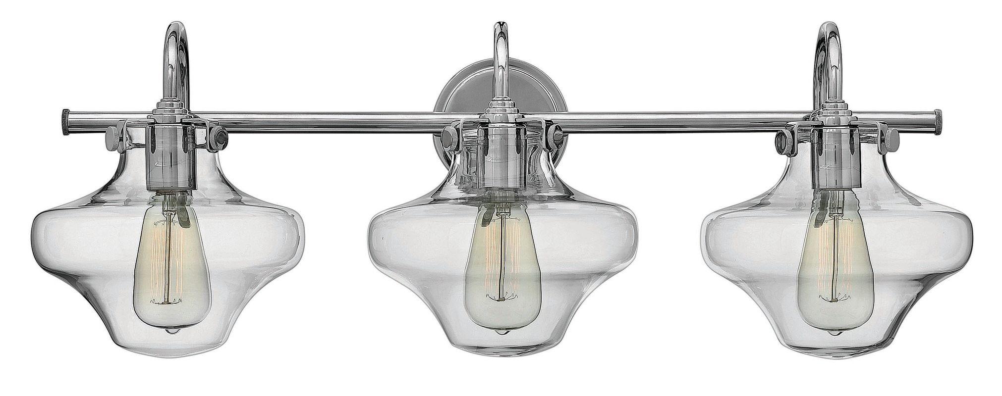 Hinkley Lighting 50031CM Chrome Industrial Congress Bathroom Light