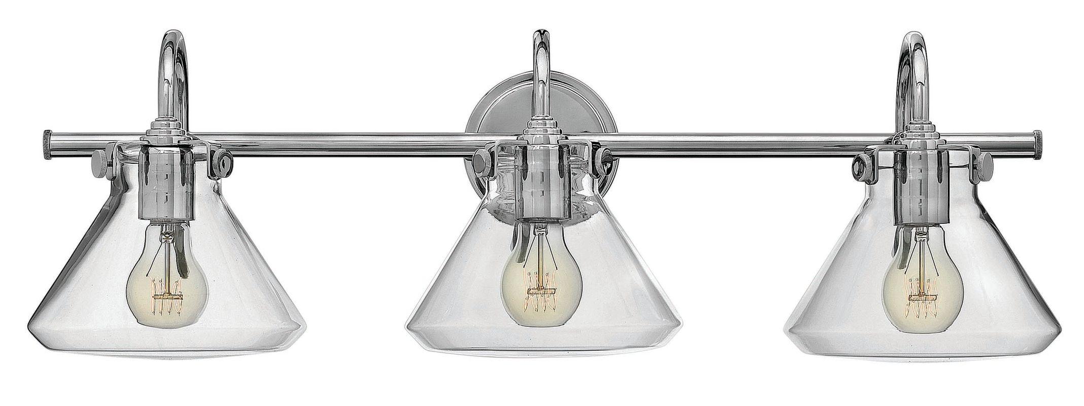 Hinkley Lighting 50036CM Chrome Industrial Congress Bathroom Light