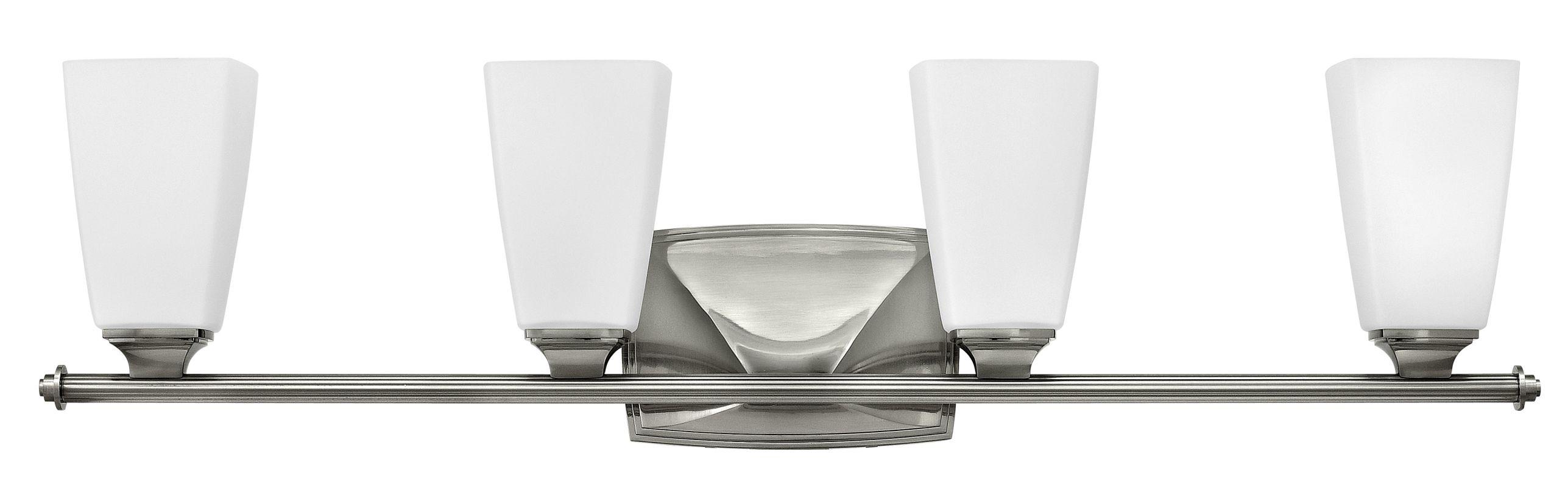 Hinkley Lighting 53014 4 Light Bathroom Vanity Light with Frosted