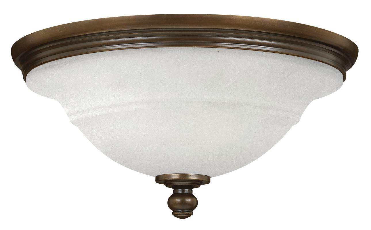 """Hinkley Lighting 54261 3 Light 17.5"""" Width Flush Mount Ceiling Fixture"""