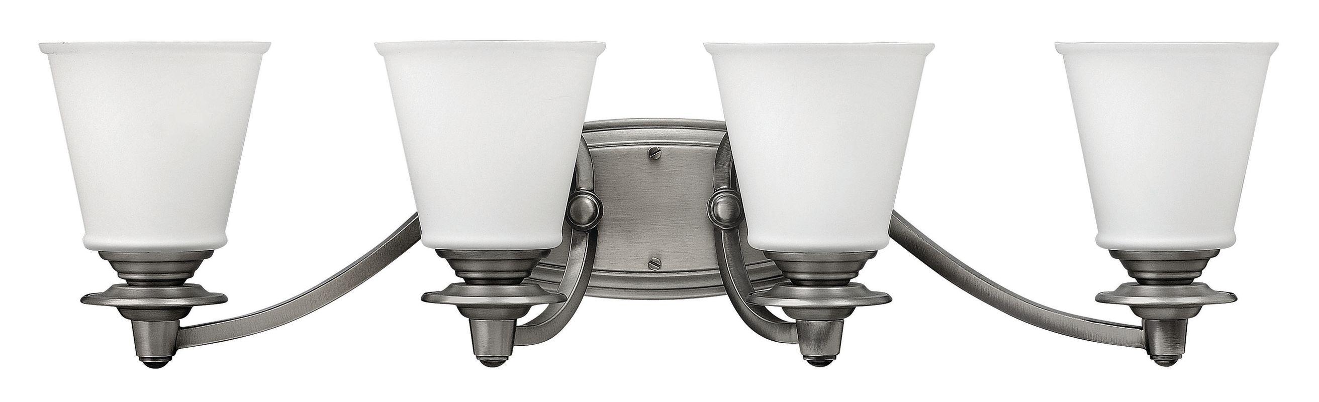 Hinkley Lighting 54264 4 Light Bathroom Vanity Light from the Plymouth
