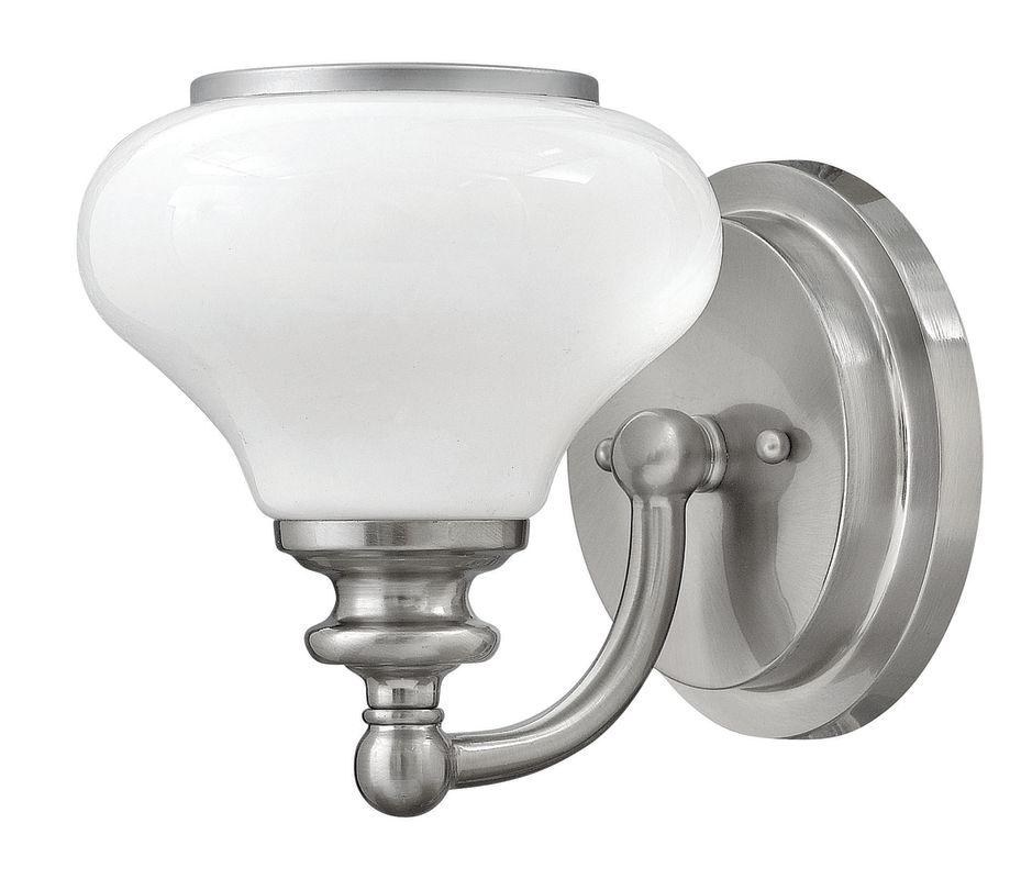 Hinkley Lighting 56550 1 Light Bathroom Bath Sconce with Frosted Glass Sale $95.00 ITEM: bci2635593 ID#:56550BN UPC: 640665565508 :