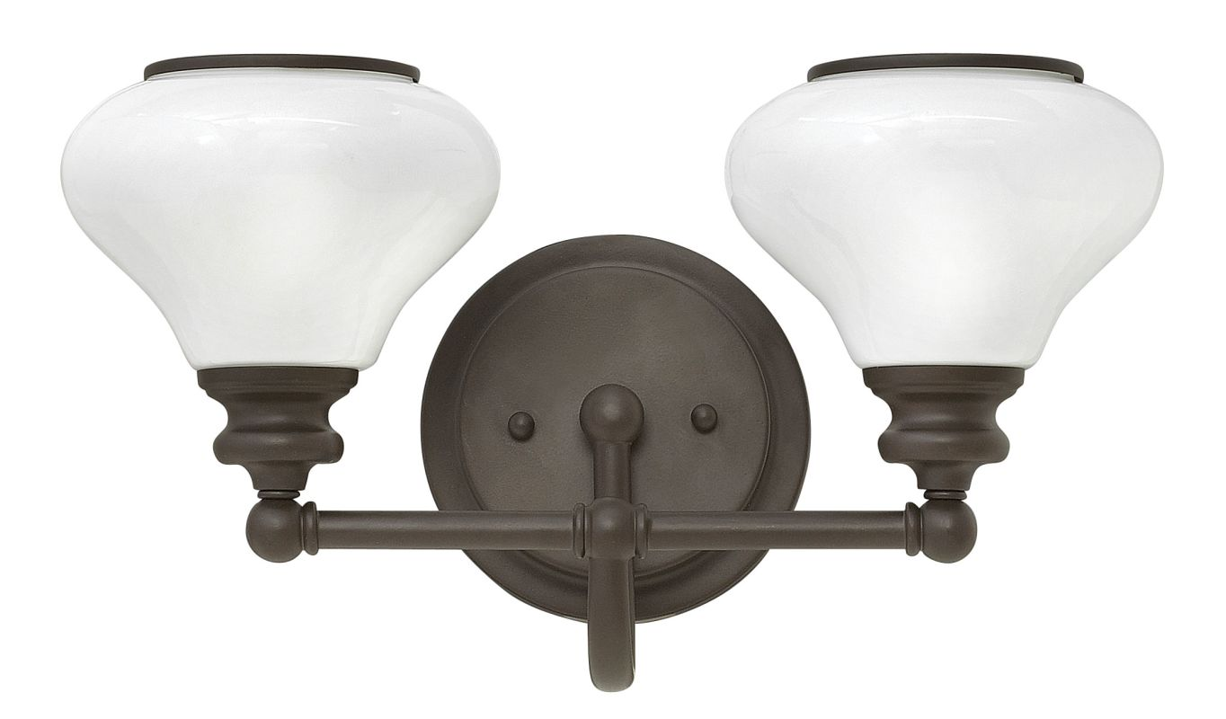 Hinkley Lighting 56552 2 Light Bathroom Vanity Light with Frosted Sale $165.00 ITEM: bci2866924 ID#:56552KZ UPC: 640665565560 :