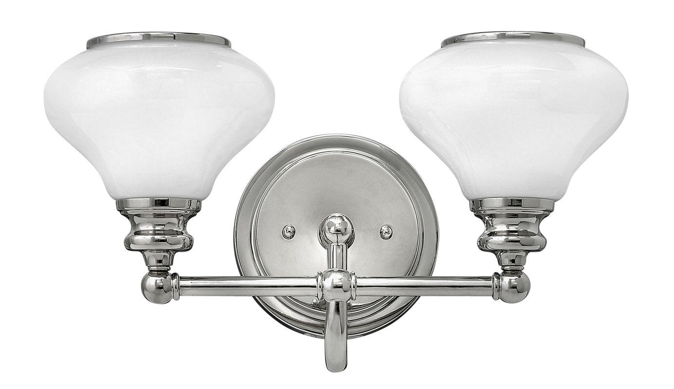 Hinkley Lighting 56552 2 Light Bathroom Vanity Light with Frosted