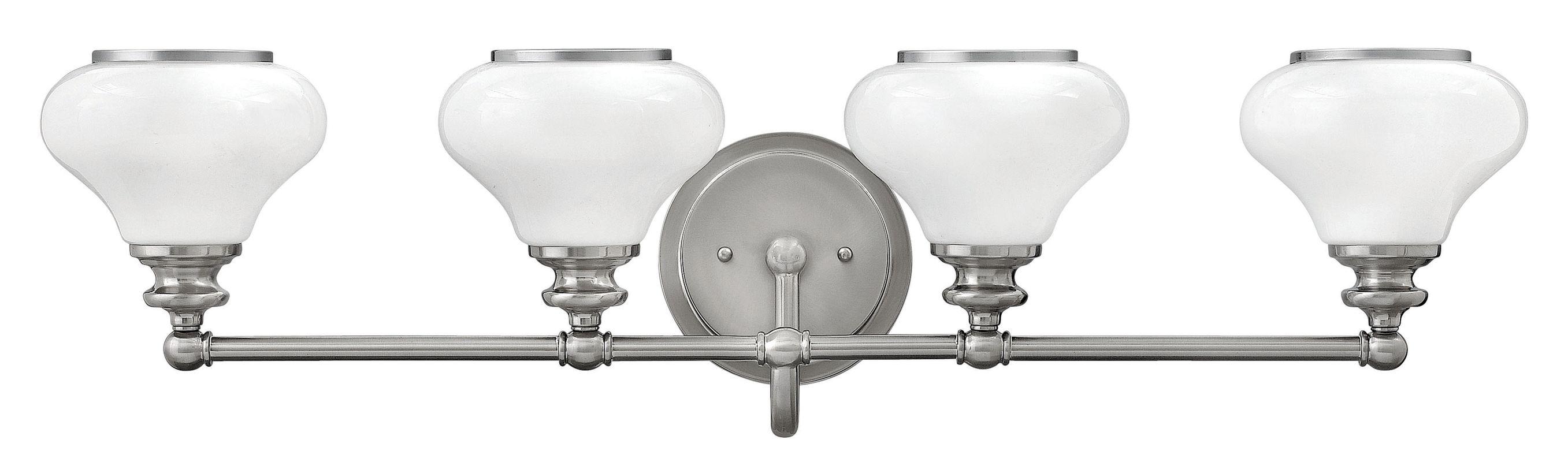 Hinkley Lighting 56554 4 Light Bathroom Vanity Light with Frosted Sale $309.00 ITEM: bci2635596 ID#:56554BN UPC: 640665565539 :