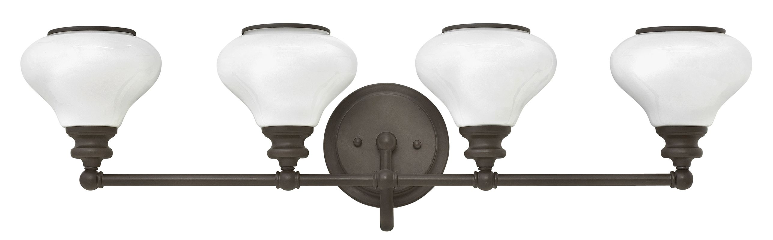 Hinkley Lighting 56554 4 Light Bathroom Vanity Light with Frosted
