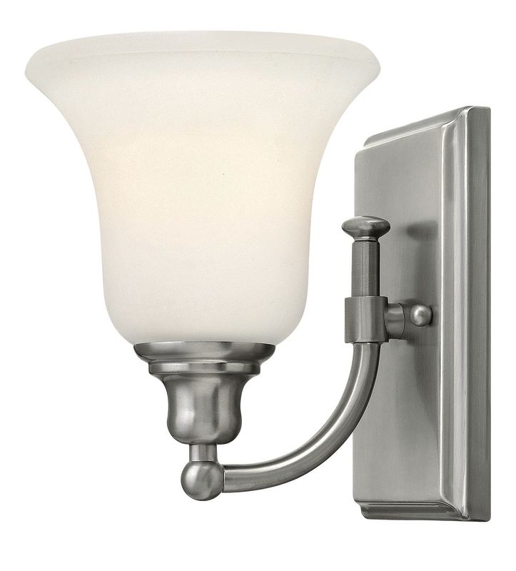 Hinkley lighting 58780bn brushed nickel 1 light 6 width for Hinkley bathroom sconces