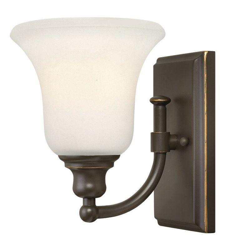 Hinkley lighting 58780oz oil rubbed bronze 1 light 6 for Hinkley bathroom sconces