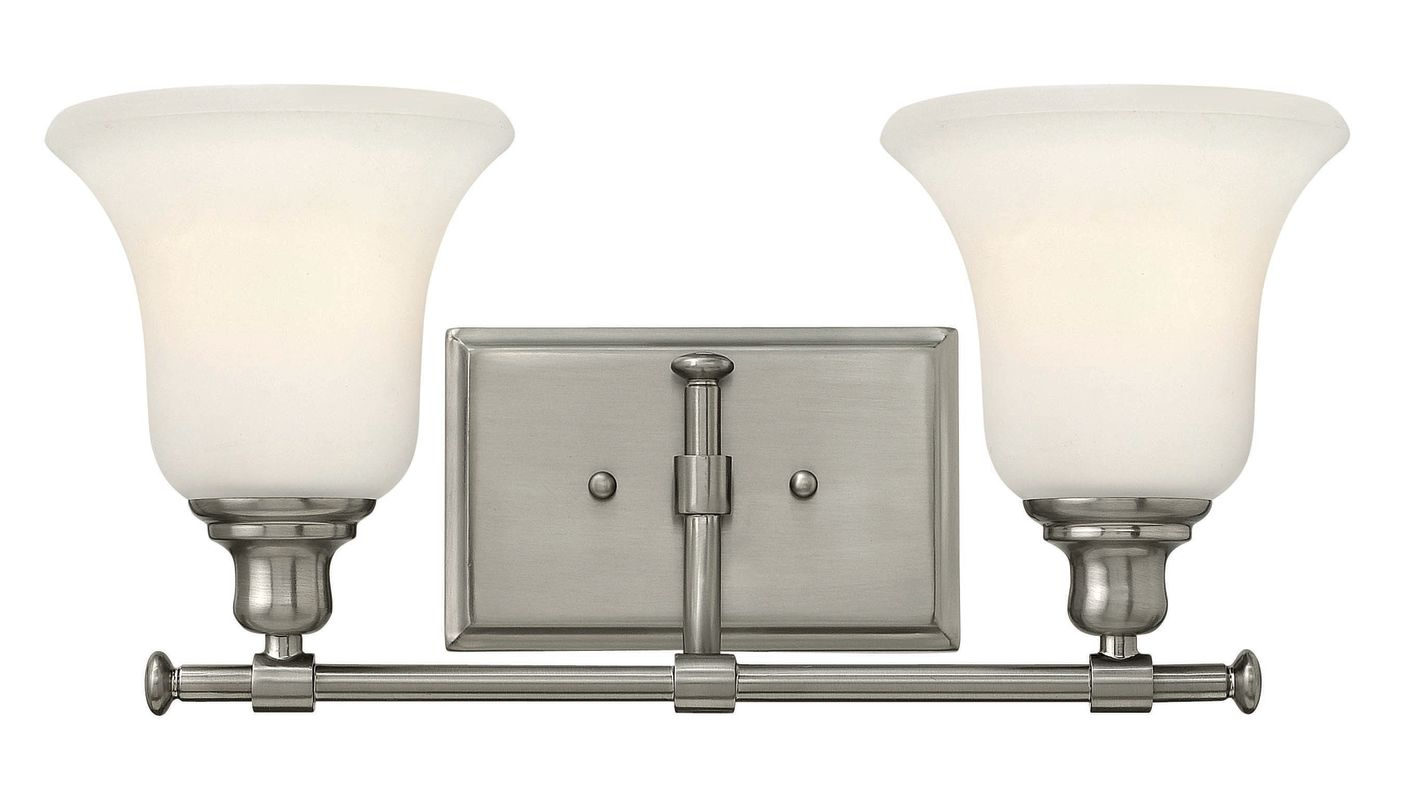 Hinkley lighting 58782bn brushed nickel 2 light 16 5 for Hinkley bathroom vanity lighting