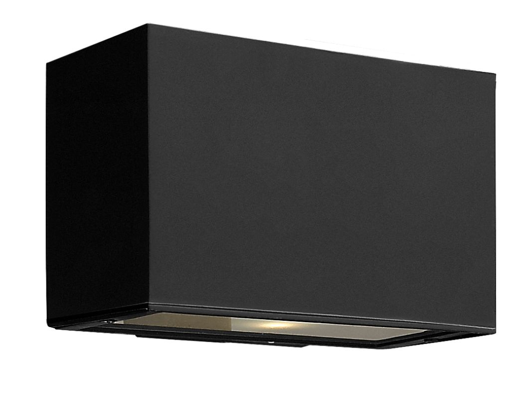 Hinkley 1645SK-LED Satin Black Contemporary Atlantis Wall Sconce