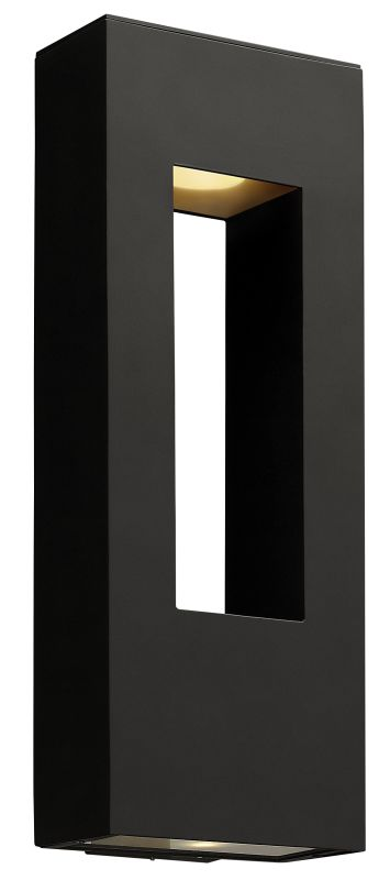 Hinkley 1649SK-LED Satin Black Contemporary Atlantis Wall Sconce