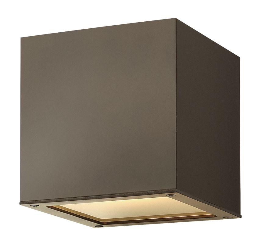 Hinkley Lighting 1767BZ-LED Bronze Contemporary Kube Wall Sconce