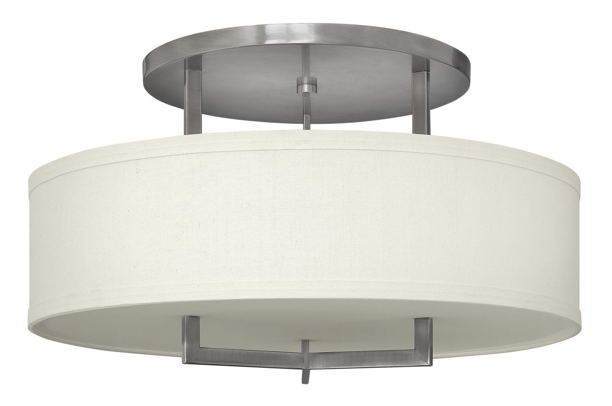 Hinkley 3211AN Antique Nickel Contemporary Hampton Ceiling Light
