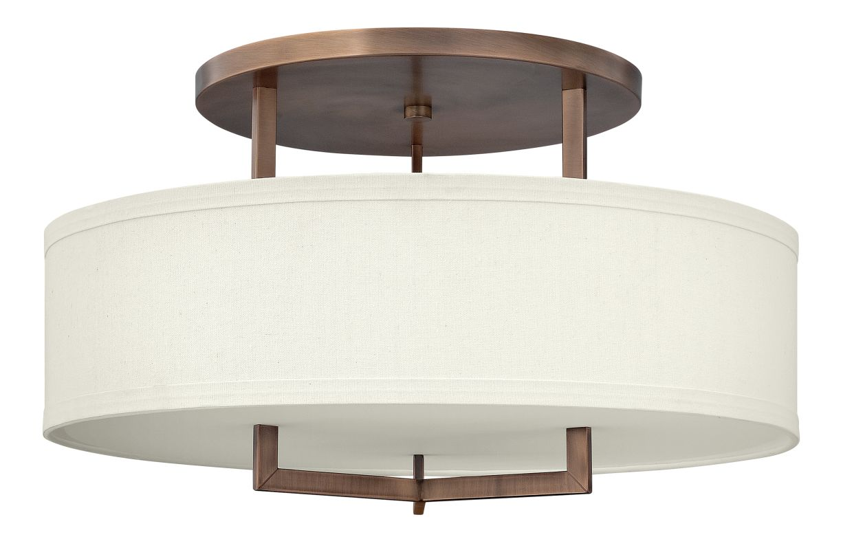 Hinkley 3211BR Brushed Bronze Contemporary Hampton Ceiling Light Sale $619.00 ITEM: bci1709950 ID#:3211BR UPC: 640665321111 :