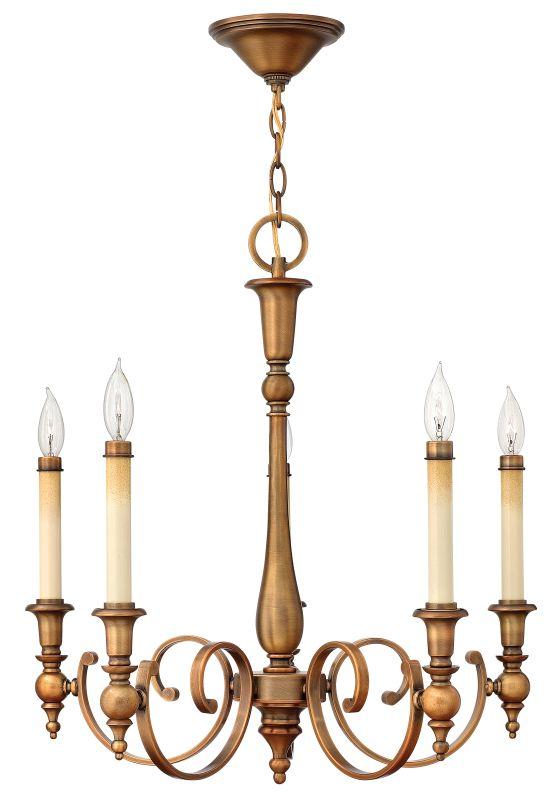 Hinkley Lighting 3625 Yorktown 5 Light 1 Tier Candle Style Chandelier