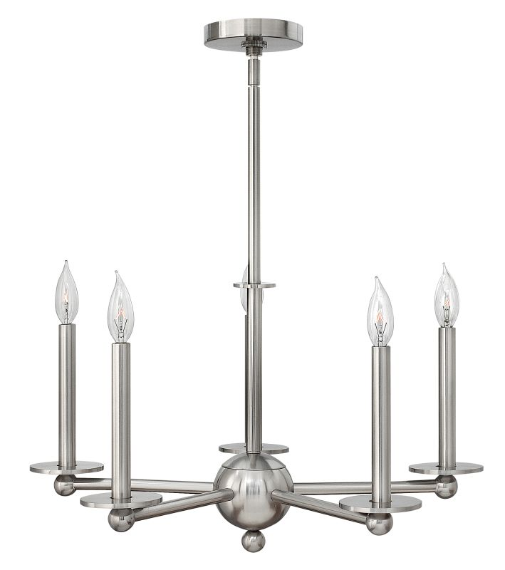 Hinkley Lighting 3745 Piedmont 5 Light 1 Tier Candle Style Chandelier