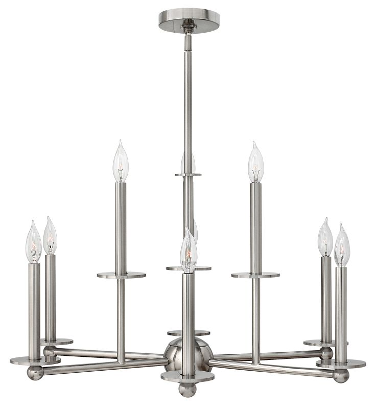 Hinkley Lighting 3748 Piedmont 9 Light 2 Tier Candle Style Chandelier