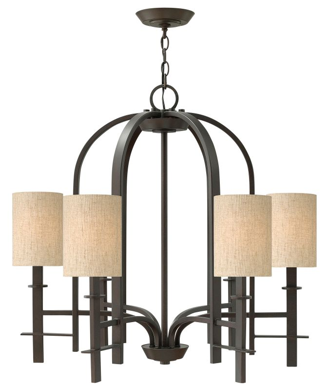 Hinkley Lighting 4546 Sloan 6 Light 1 Tier Chandelier Regency Bronze