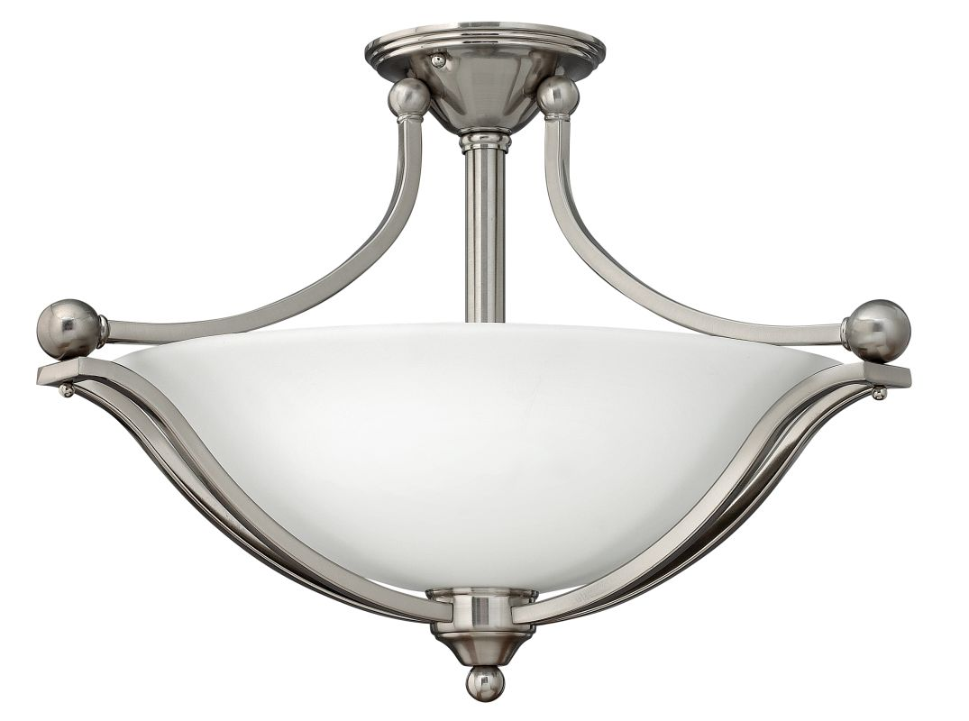 Hinkley Lighting 4669 3 Light Indoor Semi-Flush Ceiling Fixture from Sale $369.00 ITEM: bci1709970 ID#:4669BN UPC: 640665466904 :