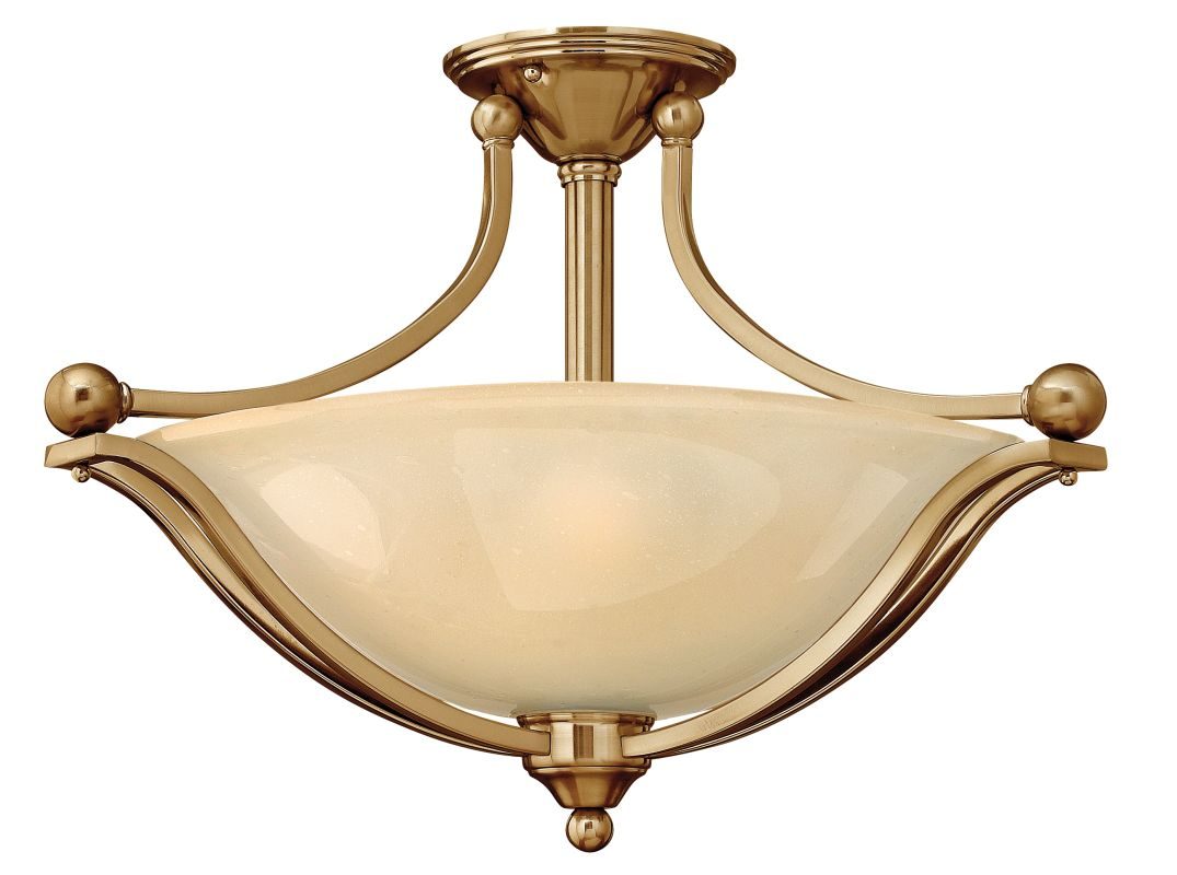 Hinkley Lighting 4669 3 Light Indoor Semi-Flush Ceiling Fixture from Sale $369.00 ITEM: bci1709971 ID#:4669BR UPC: 640665466911 :