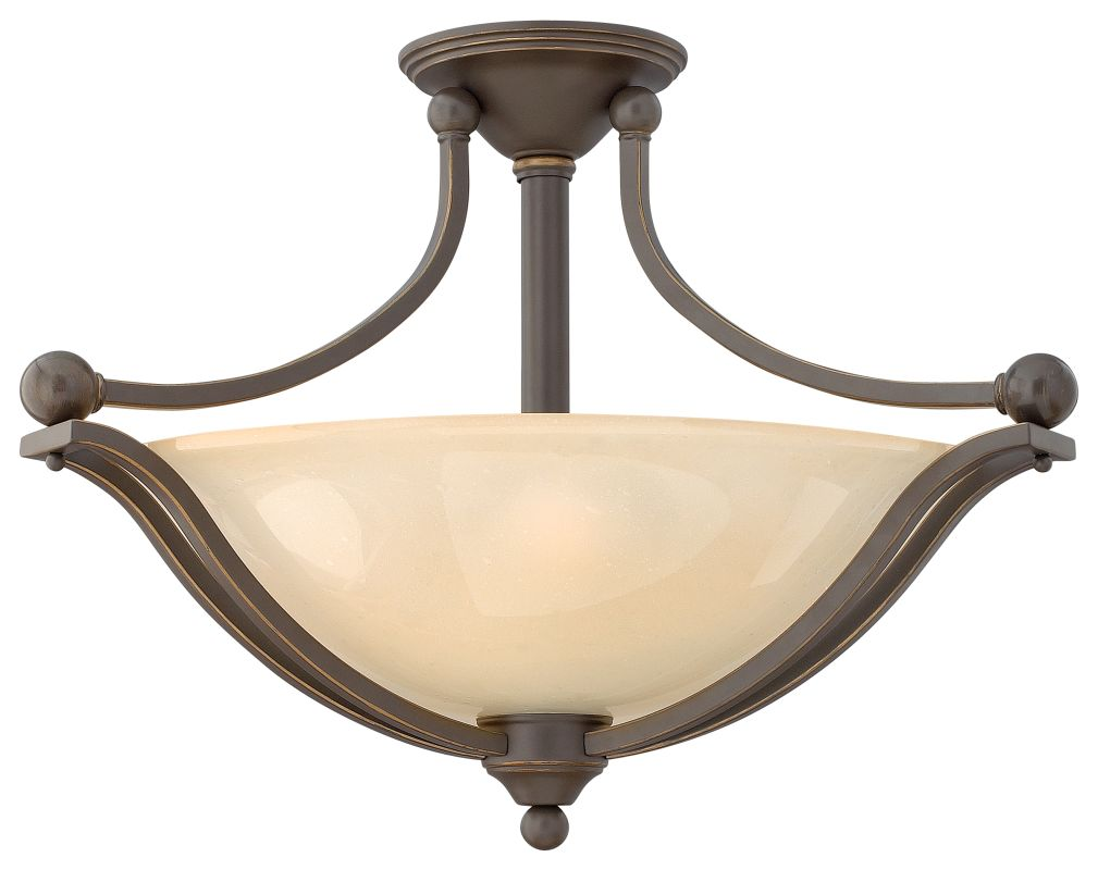 Hinkley Lighting 4669 3 Light Indoor Semi-Flush Ceiling Fixture from Sale $369.00 ITEM: bci1709972 ID#:4669OB UPC: 640665466928 :