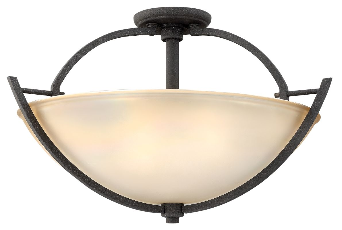 Hinkley Lighting 4702bn Brushed Nickel 3 Light Indoor Semi
