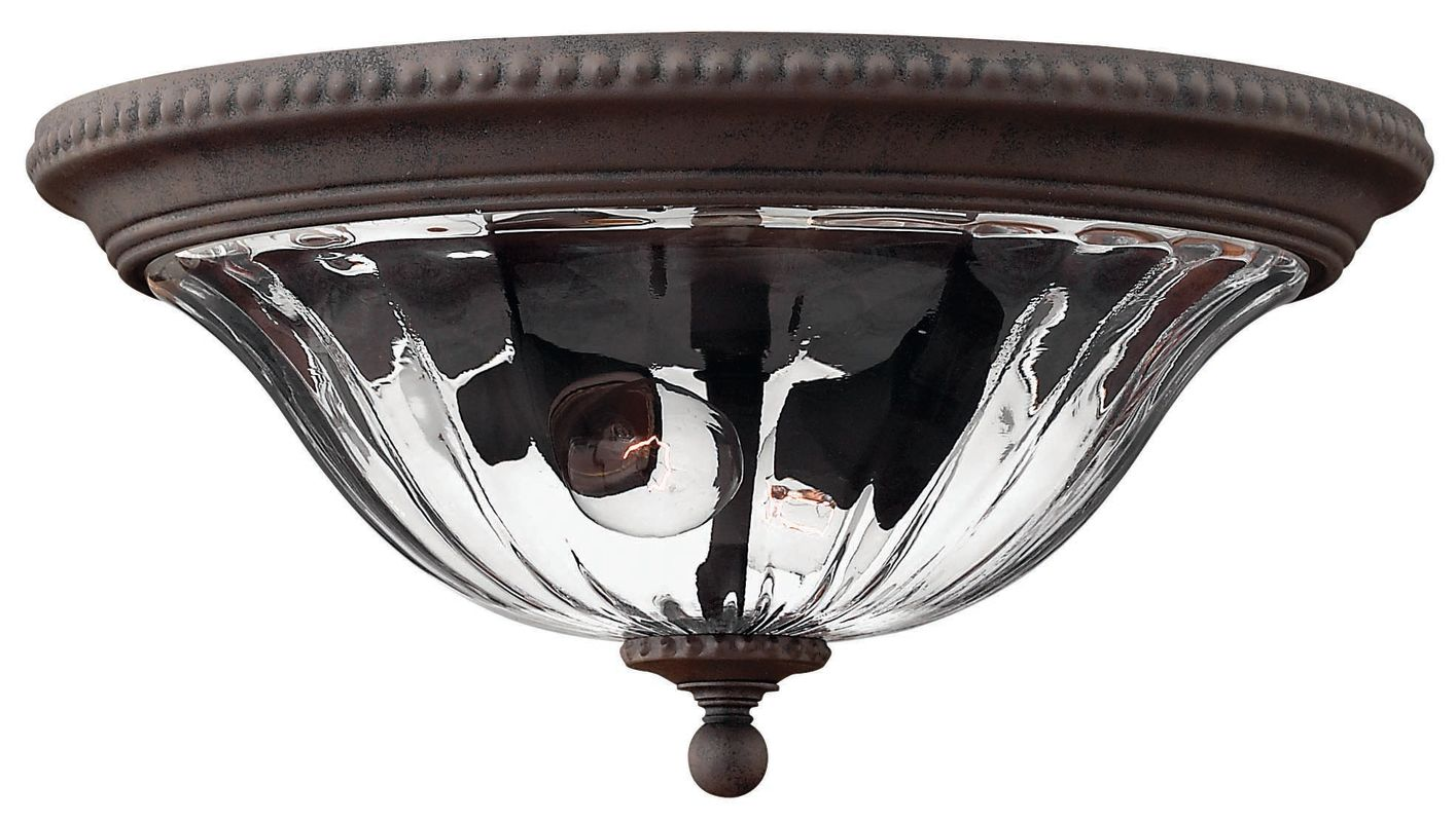 Hinkley Lighting H1243 2 Light Outdoor Flush Mount Ceiling Fixture