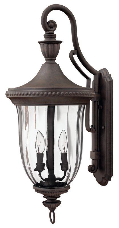 "Hinkley Lighting H1245 28.5"" Height 3 Light Lantern Outdoor Wall"