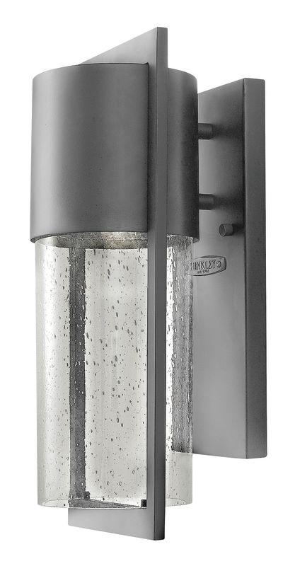 Hinkley Lighting 1320HE-LED Hematite Contemporary Shelter Wall Sconce