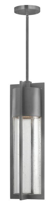 Hinkley Lighting 1322HE-LED Hematite Contemporary Shelter Pendant