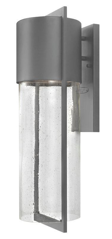 Hinkley Lighting 1325HE-LED Hematite Contemporary Shelter Wall Sconce