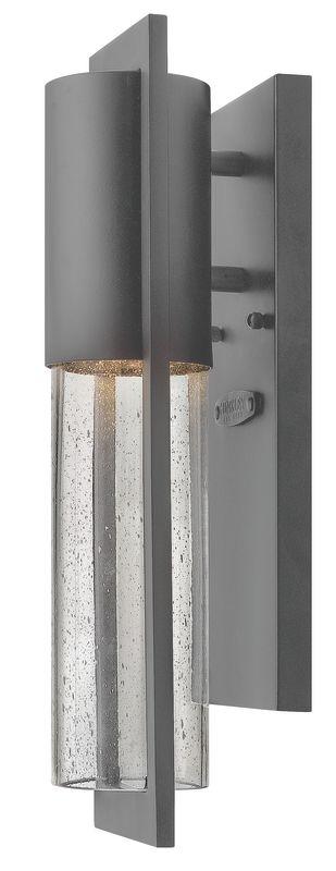 Hinkley Lighting 1326HE-LED Hematite Contemporary Shelter Wall Sconce