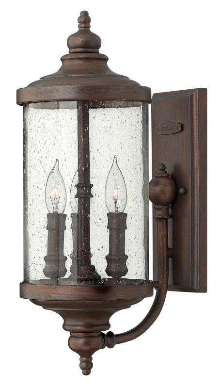 "Hinkley Lighting 1750 20.3"" Height 3 Light Lantern Outdoor Wall Sconce"