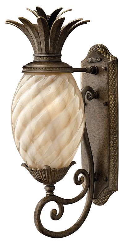 "Hinkley Lighting H2120 22"" Height 1 Light Outdoor Wall Sconce in Pearl"