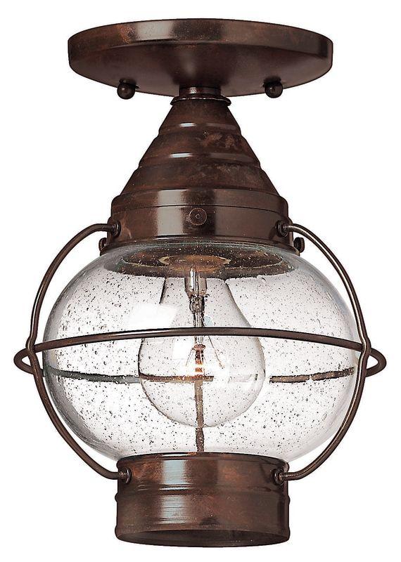 Hinkley Lighting H2203 1 Light Outdoor Flush Mount Ceiling Fixture