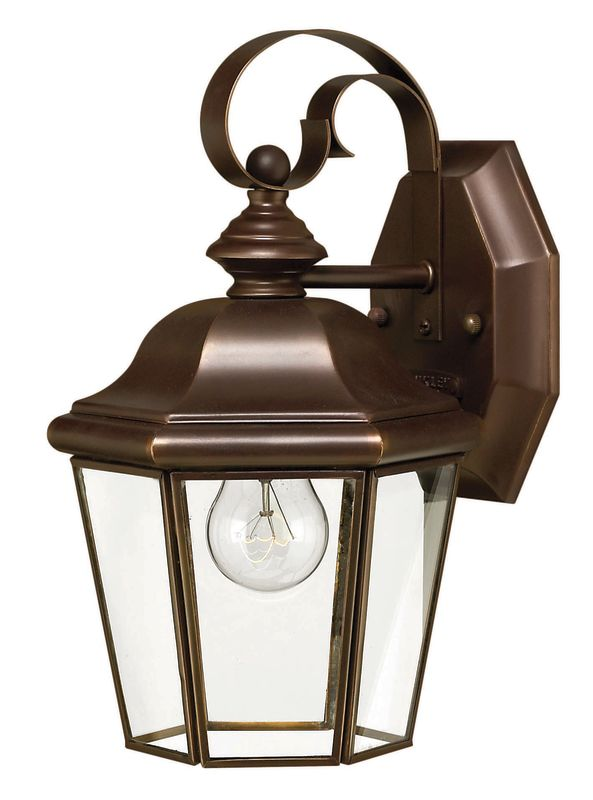 "Hinkley Lighting H2420 10.75"" Height 1 Light Lantern Outdoor Wall"