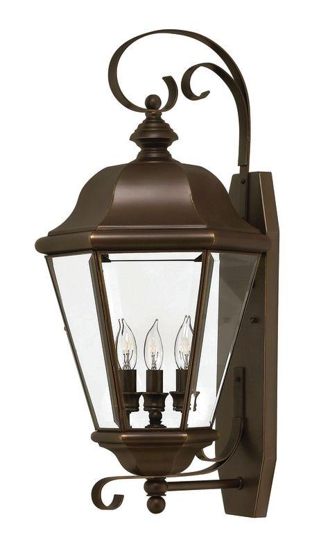 "Hinkley Lighting H2428 25.5"" Height 3 Light Lantern Outdoor Wall"
