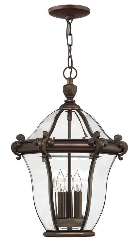Hinkley Lighting H2442 3 Light Outdoor Lantern Pendant from the San