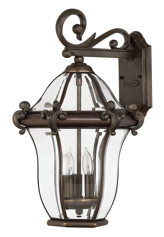 "Hinkley Lighting H2444 21"" Height 3 Light Lantern Outdoor Wall Sconce"