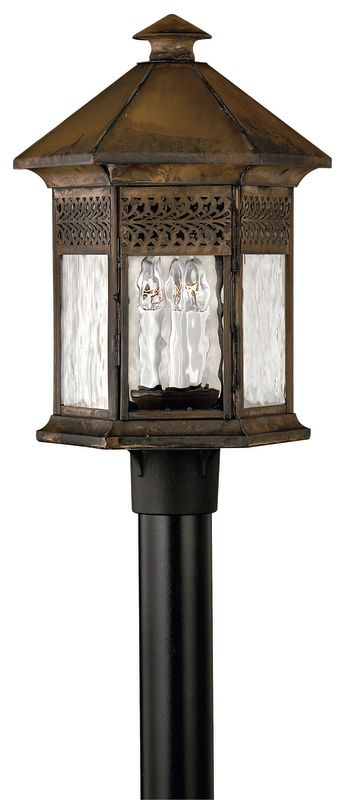 Hinkley Lighting H2991 3 Light Post Light from the Westwinds Sale $629.00 ITEM: bci153525 ID#:2991SN UPC: 640665299120 :