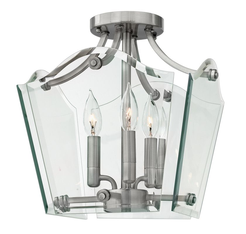 Hinkley Lighting 3003 3 Light Indoor Semi-Flush Ceiling Fixture from