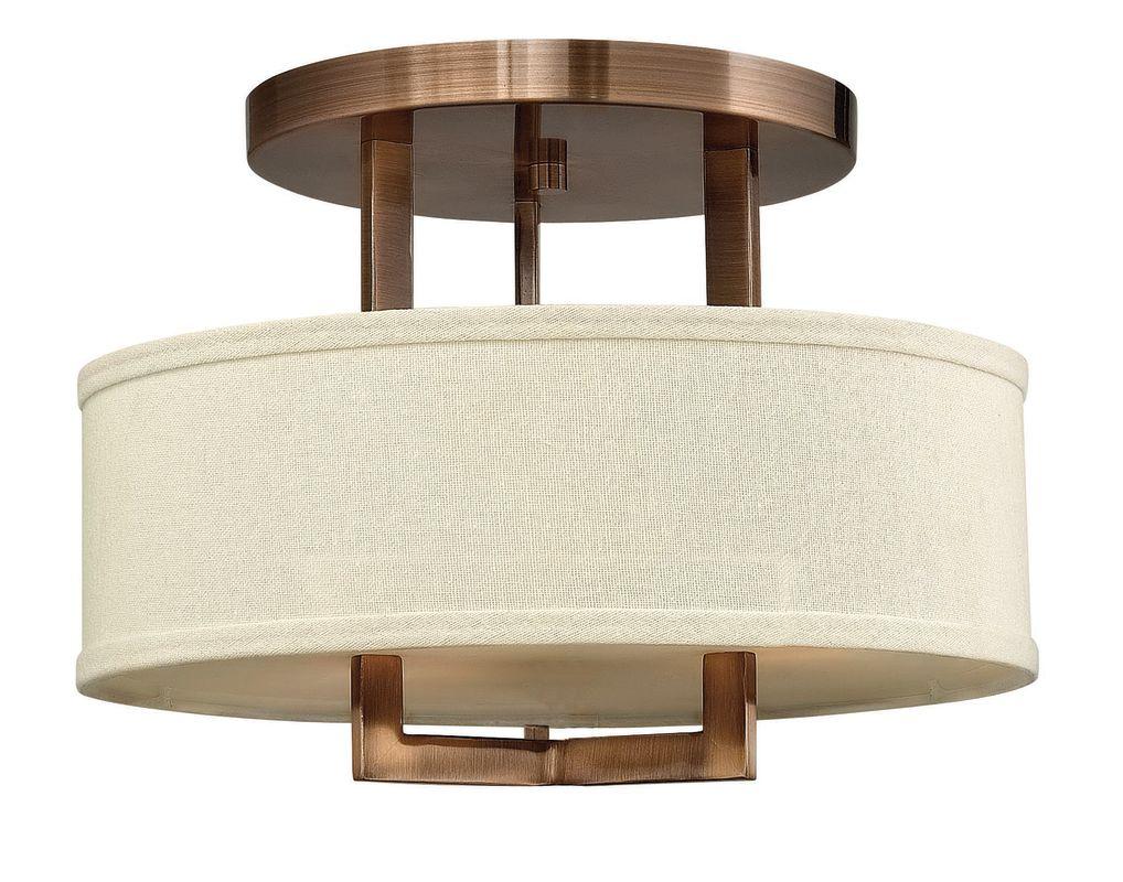 Hinkley 3200BR Brushed Bronze Contemporary Hampton Ceiling Light