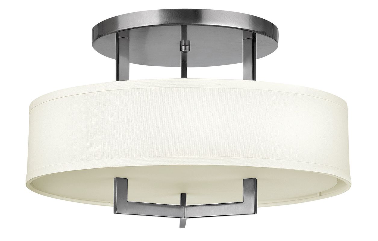Hinkley 3201AN Antique Nickel Contemporary Hampton Ceiling Light
