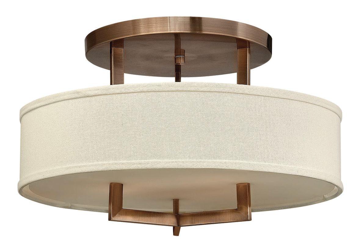 Hinkley 3201BR Brushed Bronze Contemporary Hampton Ceiling Light