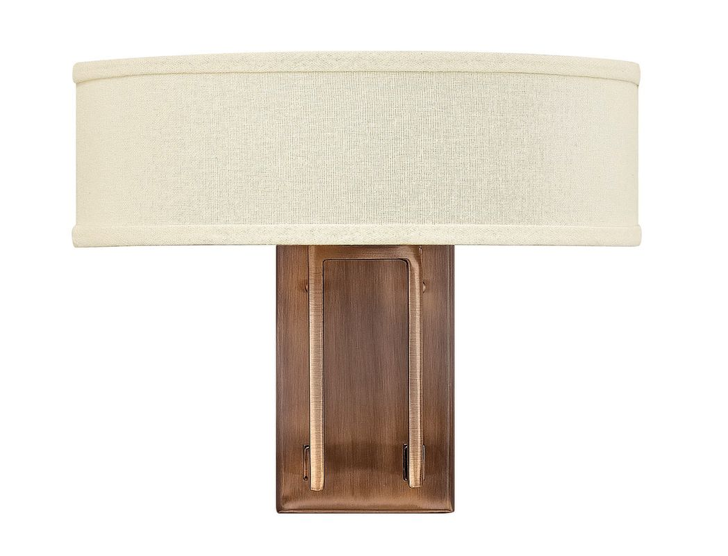 Hinkley 3202BR Brushed Bronze Contemporary Hampton Wall Sconce