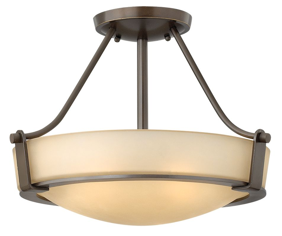 Hinkley Lighting 3220 3 Light Semi-Flush Ceiling Fixture from the Sale $239.00 ITEM: bci1431855 ID#:3220OB UPC: 640665322019 :